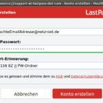lastpass firefox registrierung