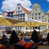 Pause in der Augsburger Innenstadt