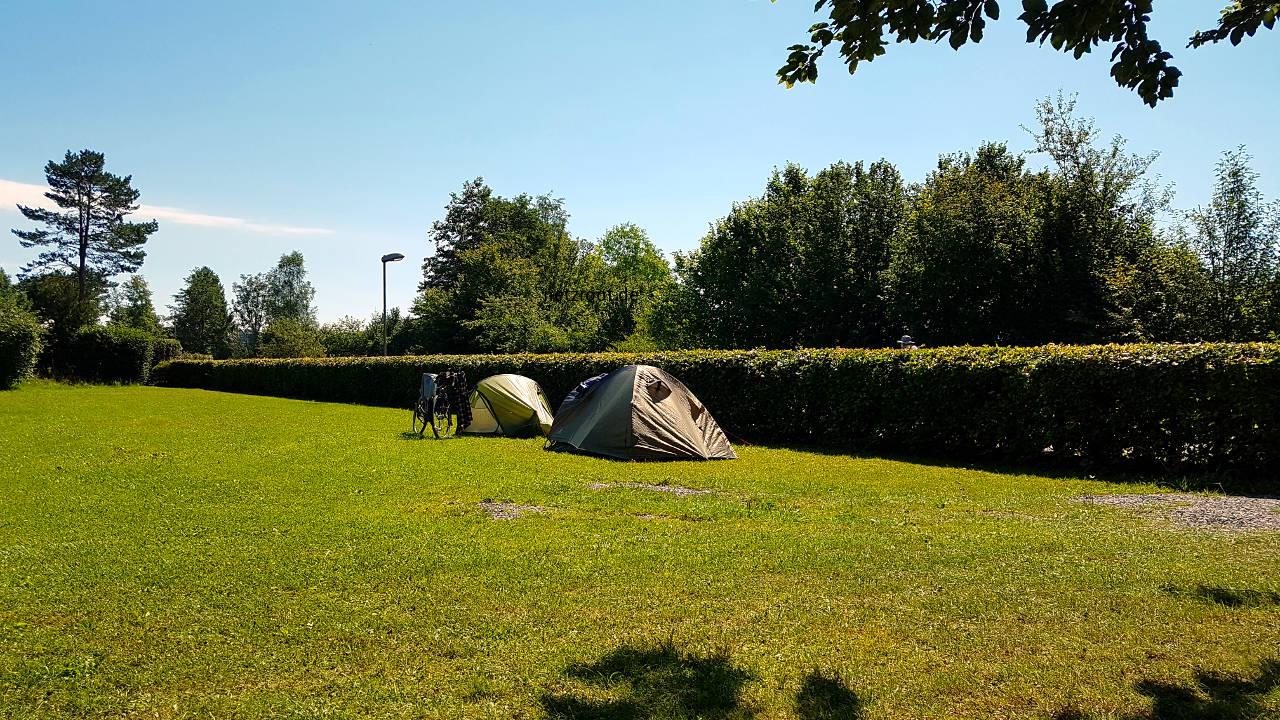 Fast allein auf dem Campingplatz