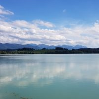 Tolle Kulisse bei Lechbruck am See