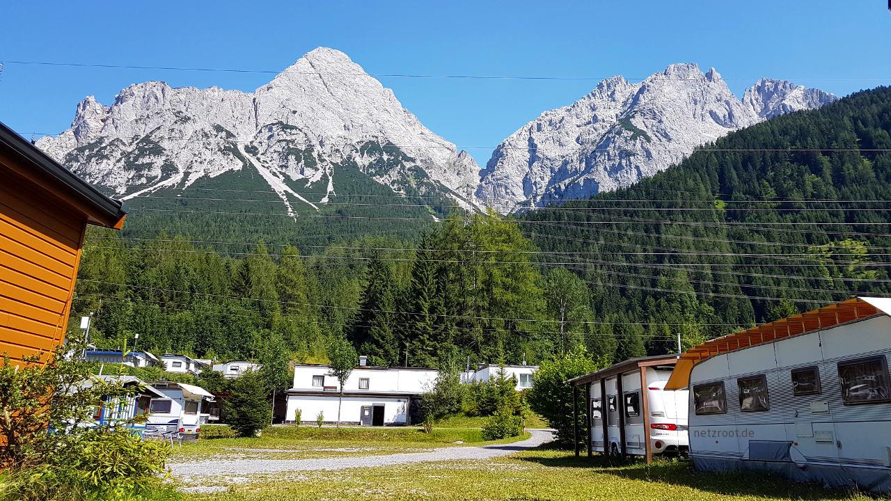Aussicht am Campingplatz Alpencamp-Marienberg