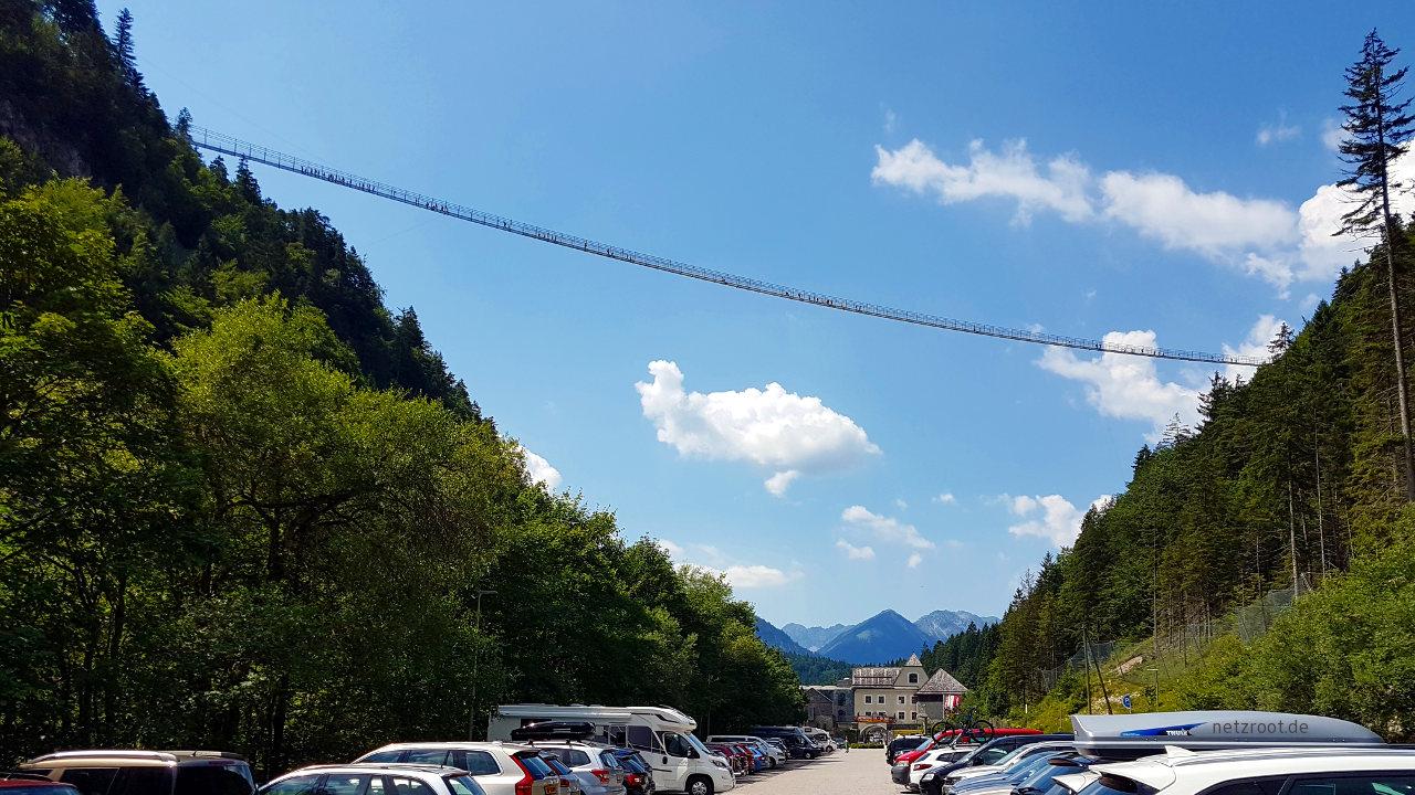 """Die """"Highline179"""" bei Reutte in Tirol"""