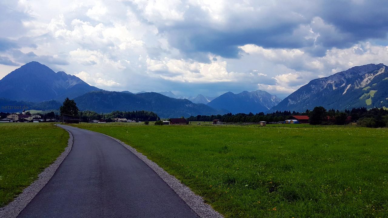 Auf dem Weg nach Reutte in Tirol