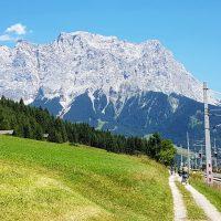 Blick auf die Zugspitze bei Ehrwald